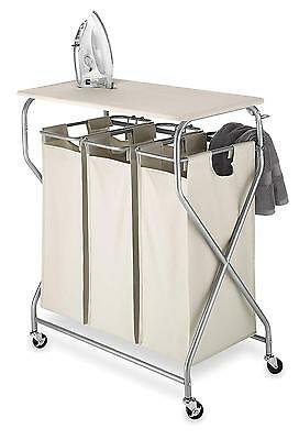 Whitmor Easy Lift Triple Sorter with Ironing Board Folding Table