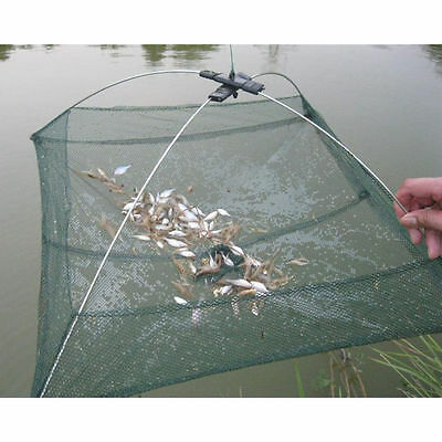 GOOD Folded Fishing Net Small Fish Shrimp Minnow Crab Baits Cast Mesh Cage Trap