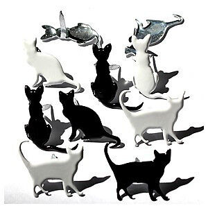 NEW Eyelet Outlet Shape Brads 12 Pack - Silhouette Cat