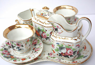 EXQUISITE Gilded 19th SEVRES Porcelain French OLD PARIS Breakfast Tea Coffee Set