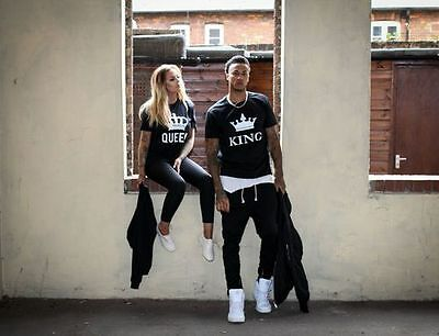 King Queen Royal Couple Set Unisex Shirt Men Women His and Hers