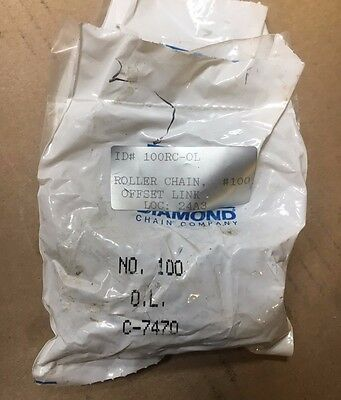DIAMOND CHAIN CO. 24A3 - C-7470  Offset Link, Series 100 Chain USA NEW