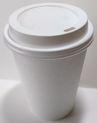 20 oz  50 Paper Coffee Cup/Disposable Hot Cup with 50 Cappuccino Lids