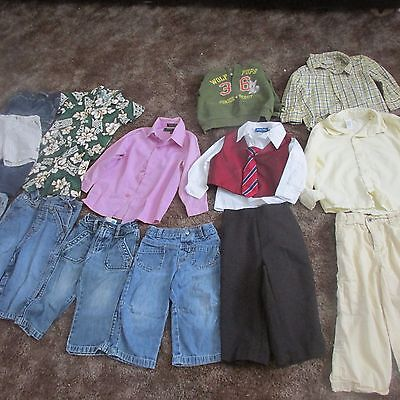lot of 17 pieces toddler boys clothing size 18-24 mos and 3T free shipping!