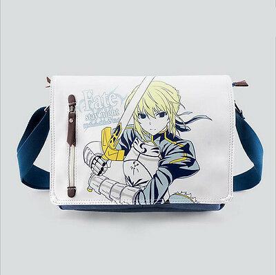 Neu Anime FATE STAY NIGHT Cosplay Segel + PU Messenger Tasche Bag 31x26x7CM