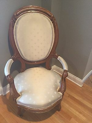 Antique Victorian High Balloon Back Parlor Chair
