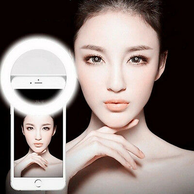 USA Stock Selfie LED Ring Flash Fill Light Clip For iPhone Andriod Smart Phone