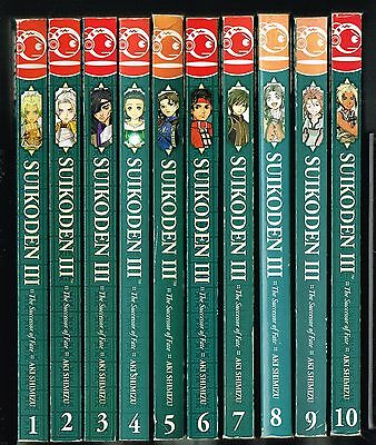 Suikoden III - Volumes 1 to 10 Inclusive - Good Condition