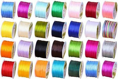 Wholesale 10M Rubber Chinese Knot Satin Macrame Beading Jewelry Rattail Cords