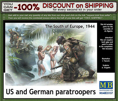 """Master Box 35157 """"U.S. and German paratroopers, South of Europe""""  Scale 1/35"""