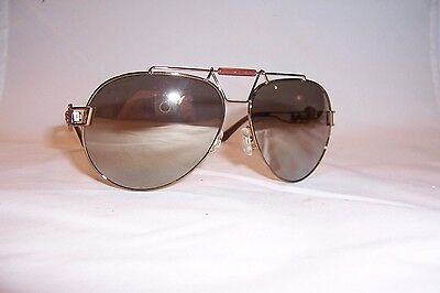 92f04290ba New Versace Sunglasses Ve2160 Ve 2160 13485A Bronze Gold Mirror Authentic