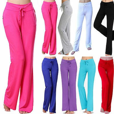 Women Soft Comfy YOGA Gym Exercise Fitness Running Sport Trousers Athletic Pants