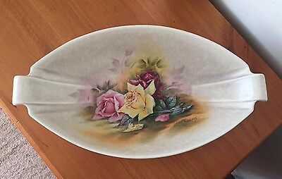 Vintage Crown Devon Fieldings Dish Signed T. Wilcox
