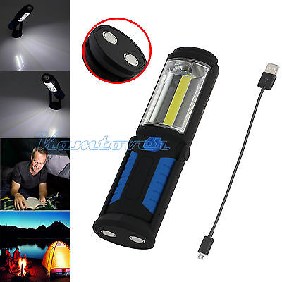 3W COB+1W LED Inspection Light Magnetic Rechargeable Flexible Working Torch Lamp