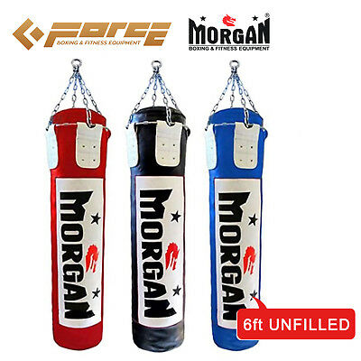 6 ft/180cm MORGAN Muay Thai/Boxing UNFILLED MMA UFC Heavy Punch Bag Black Color