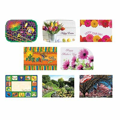 Hoffmaster 857205 Spring Seasonal Occasions Placemats, 8 Designs per Case, x 8