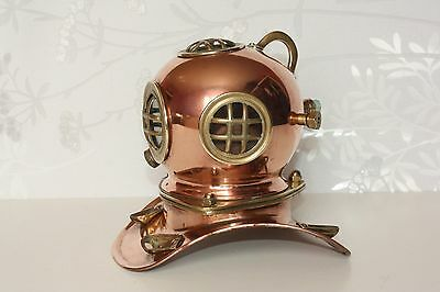 Vintage Copper and Brass Model Diving Divers Helmet Maritime Nautical Marine
