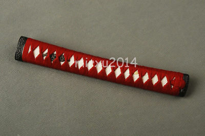 Dark Red Synthetic Ito White REAL Rayskin Tsuka  for Japanese Samurai KATANA