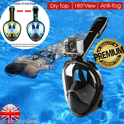 NEOpine Full Face Snorkeling Mask Scuba Panoramic Dive Swim Set For Gopro L/XL
