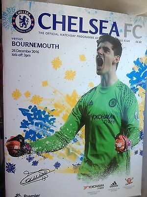 Official Chelsea V Bournemouth Mint Unread Match Programme..26/12/16