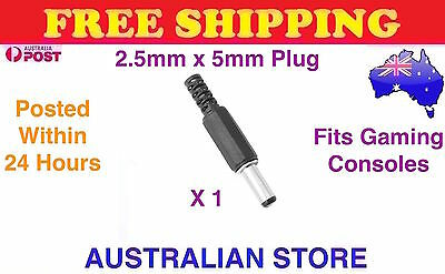 Male Plug 5.5x2.5mm DC Power Connector Adapter Sega Power Supply Replacement