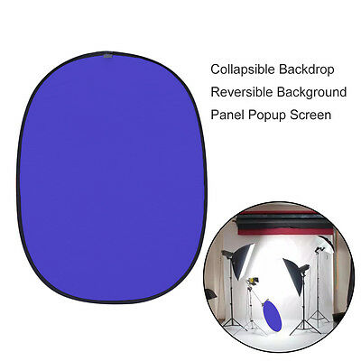 5x7ft Collapsible Backdrop Reversible Background Panel Popup Blue Screen E