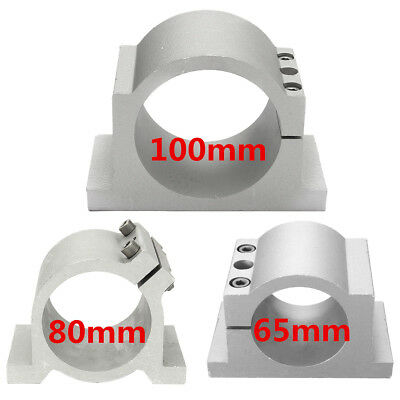 52/65/80/100mm Spindle Motor Mount Clamp Bracket Holder For CNC Router w/Screw