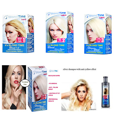 Best Prices, BLOND TIME ANTI YELLOW SHAMPOO, & DYES Professional Results 150ml