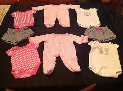 Lot of Twin Baby Girls Clothes 0-3 Months