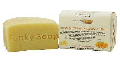 1 piece Cocoa Butter and Calendula Soap Bar 100% Natural Handmade 120g