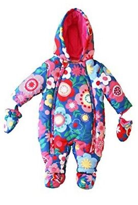 UK Design Toby Tiger Baby Girl Winter Puffer Snowsuit One Piece 9 Months