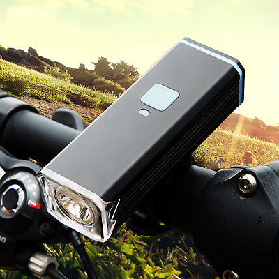 CREE T6 LED Bicycle Bike HeadLight lamp USB Rechargeable Flashlight + Mount Clip