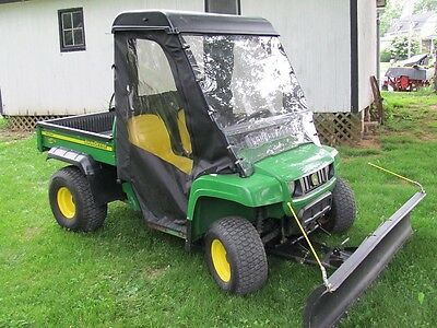 2007 John Deere Tx Turf Gator W/ Snow Blade & Soft Cab  Only 378 Hrs. Nice Shape