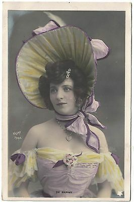 VINTAGE FRENCH POSTCARD WALERY PHOTO SHOWGIRL FROM PARIS REVUE c1903 RISQUE