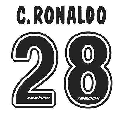 Sporting Lisbon C Ronaldo Nameset Shirt Soccer Number Letter Heat Print Football