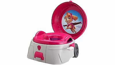 The First Years Paw Patrol Skye Potty with Pretend Flushing Sound - Pink/White