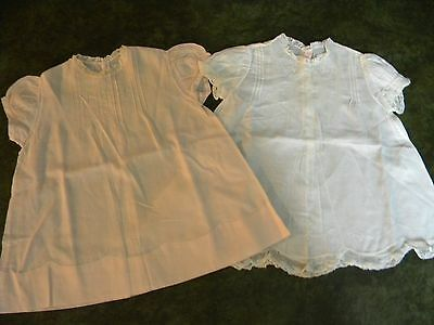 Vintage 1950s infant baby dresses Lot of 2, made in Philippines