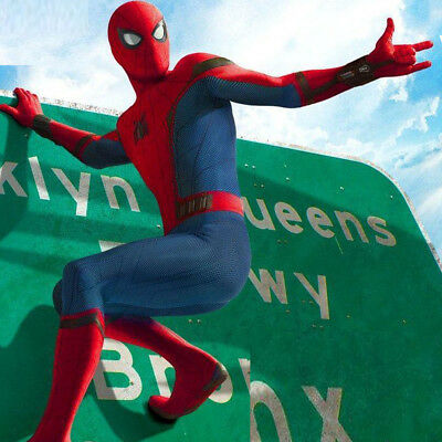 Children Spider Man Homecoming Costume Halloween Spuerman Series Cosplay Outfit