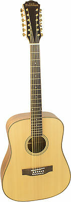 Freshman Songwriter Dreadnought Guitar, Acoustic Guitar,Natural Satin with case