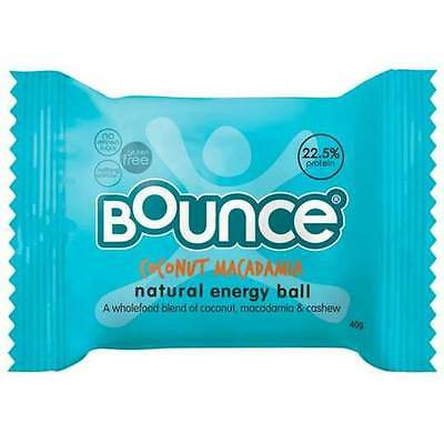 Bounce Energy Protein Balls Coconut Macadamia Protein Bliss 12 x 40g box