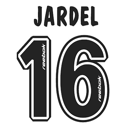 Sporting Lisbon Jardel Nameset Shirt Soccer Number Letter Heat Print Football