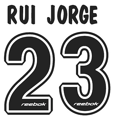Sporting Lisbon Rui Jorge Nameset Shirt Soccer Number Letter Heat Print Football