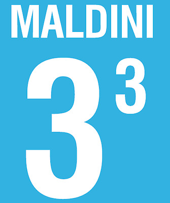Italy Maldini Nameset 2002 Shirt Soccer Number Letter Heat Print Football Home