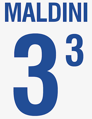 Italy Maldini Nameset 2002 Shirt Soccer Number Letter Heat Print Football Away