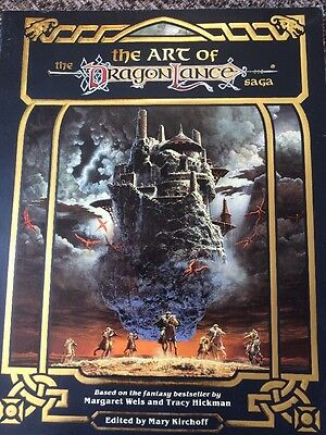 "DRAGONLANCE ""The ART Of DRAGONLANCE SAGA"" TSR VNC 1987120 pages 1st PRINT"