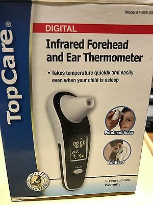 TopCare Digital Infrared Forehead and Ear Thermometer New in Box