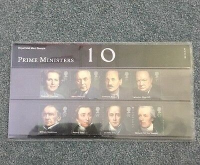 2014 Gb Royal Mail Mint Stamps Presentation Pack - Prime Ministers