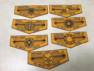 Lot of 7 No Patch Issued Felt OA Flaps