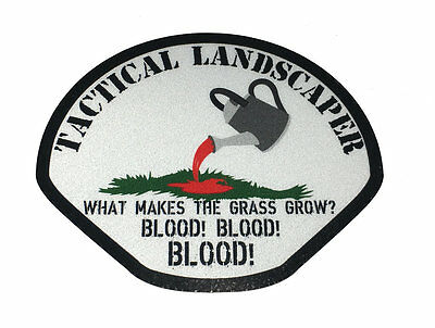 The TACTICAL LANDSCAPER REFLECTIVE infantry military tactical DECAL / Sticker