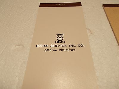 "CITIES SERVICE OIL COMPANY Notepad - Quantity of ""5"" - NOS"